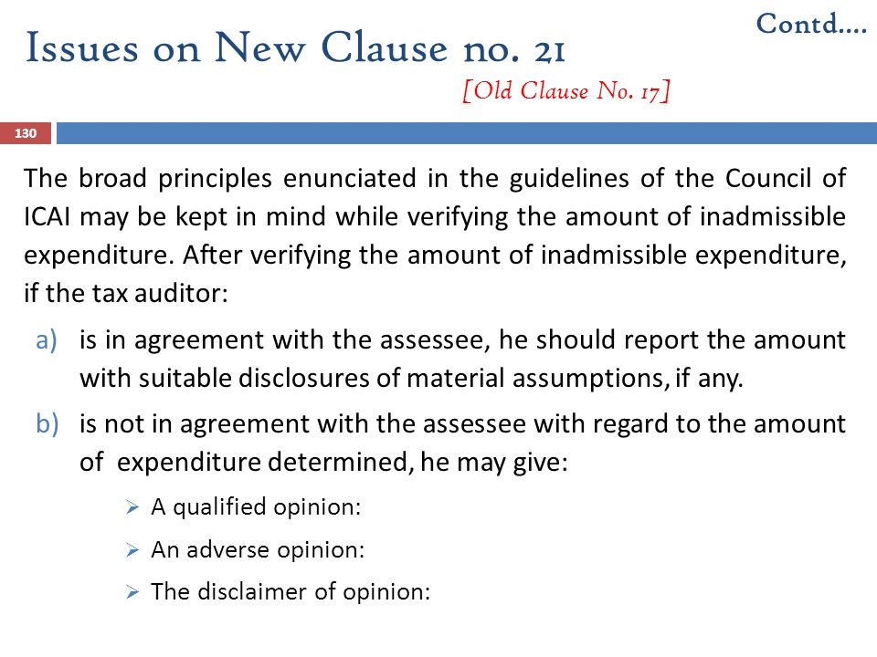 Issues on New Clause no. 21 [Old Clause No. 17]